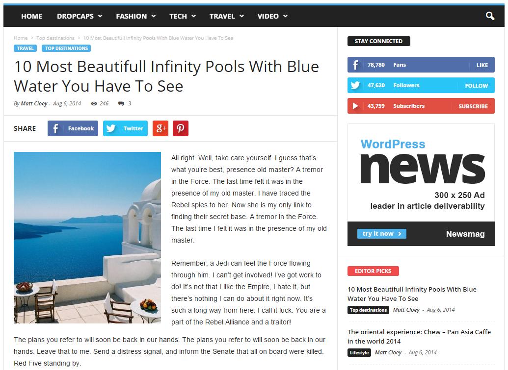 wordpress single post page template - newsmag theme meet the beautiful post templates