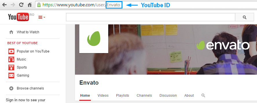 tagDiv Social Counter: YouTube ID