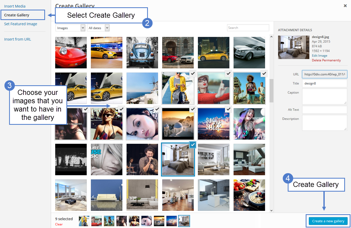 tagDiv Image Slider Gallery: Create a New Gallery
