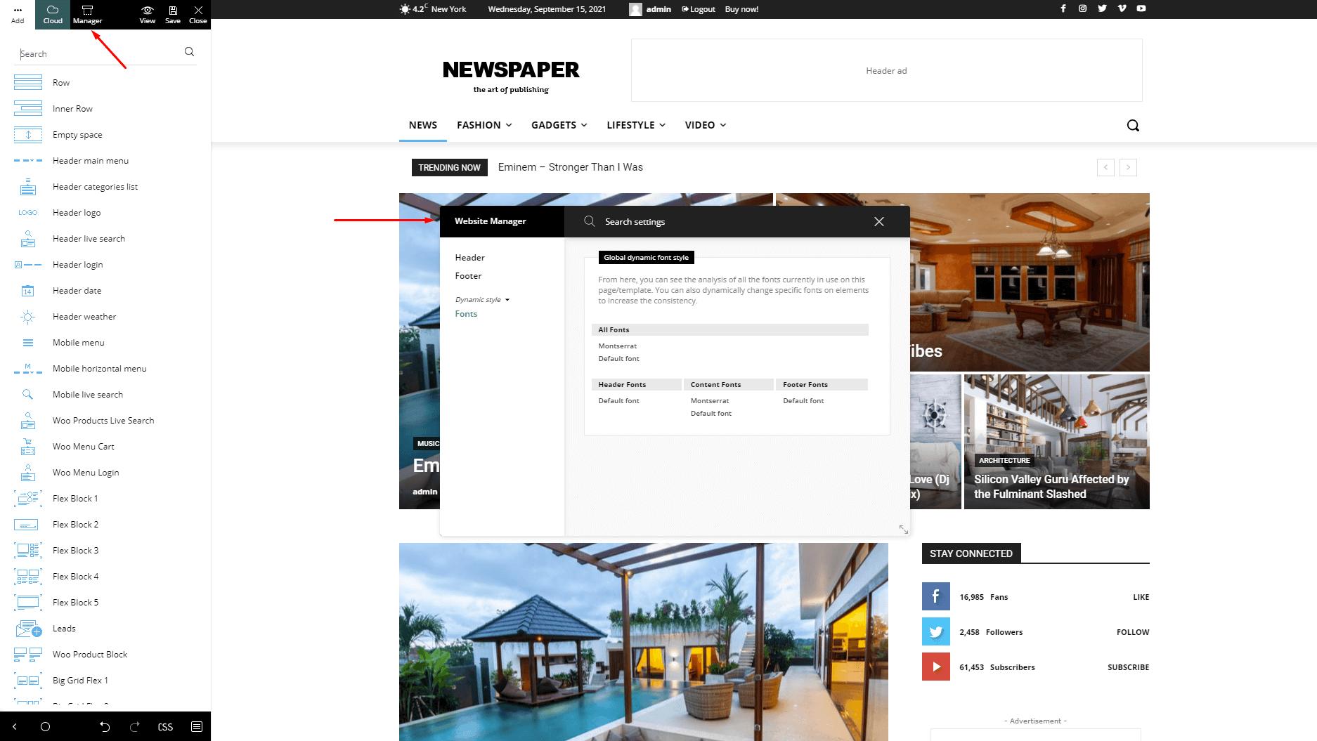 Website Manager Fonts