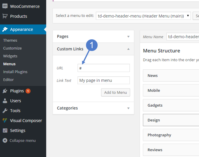 Newspaper Theme: How to add a page in menu