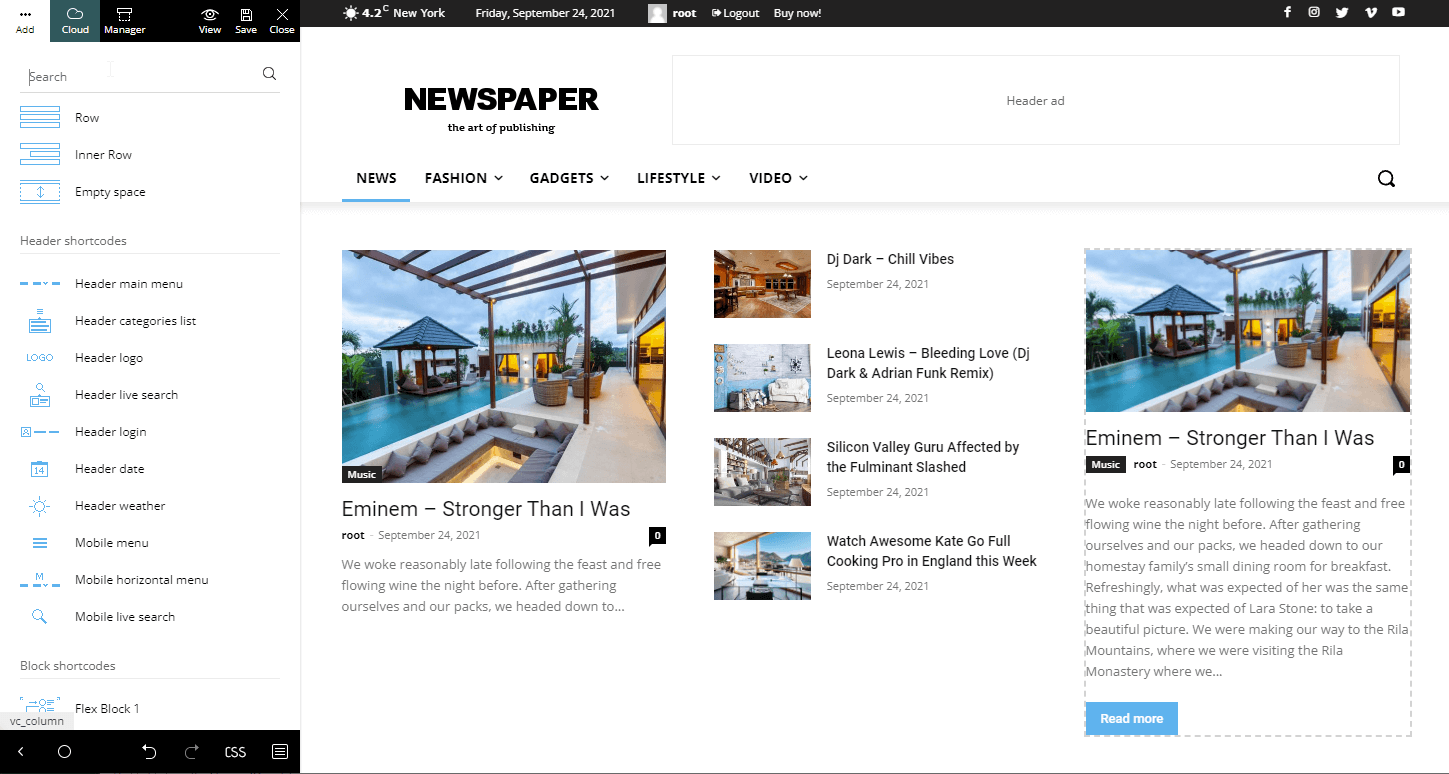 Latest articles - Homepage