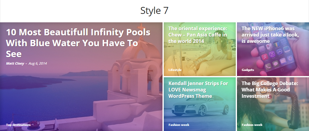 Newsmag Theme: Category grid styles