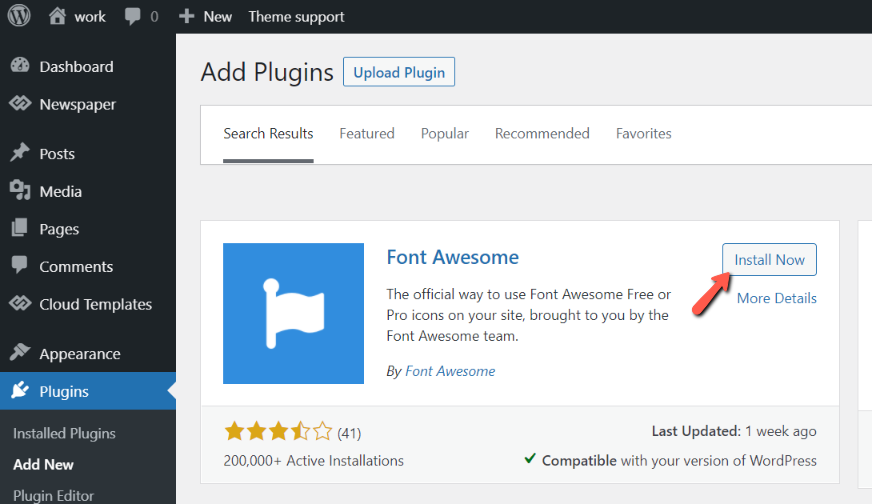 Font Awesome - icons