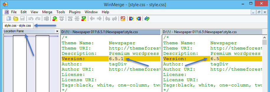 Winmerge Compare Newspaper Result Stylecss