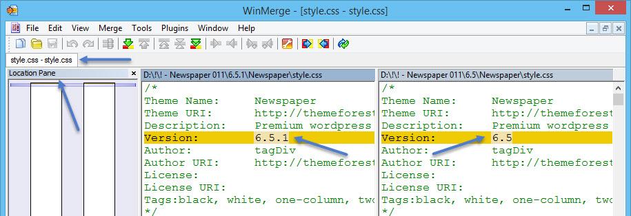 Winmerge Compare Newspaper Result Stylecss