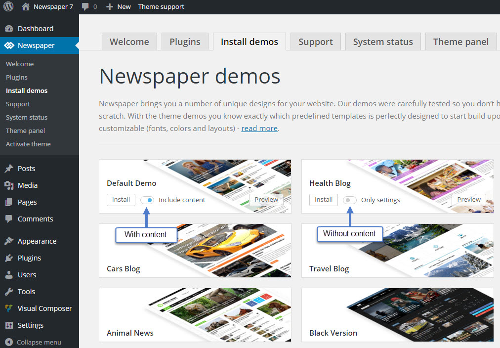 newspaper_demos_content_switch