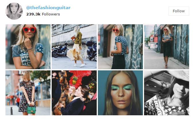 Instagram widget on Newsmag