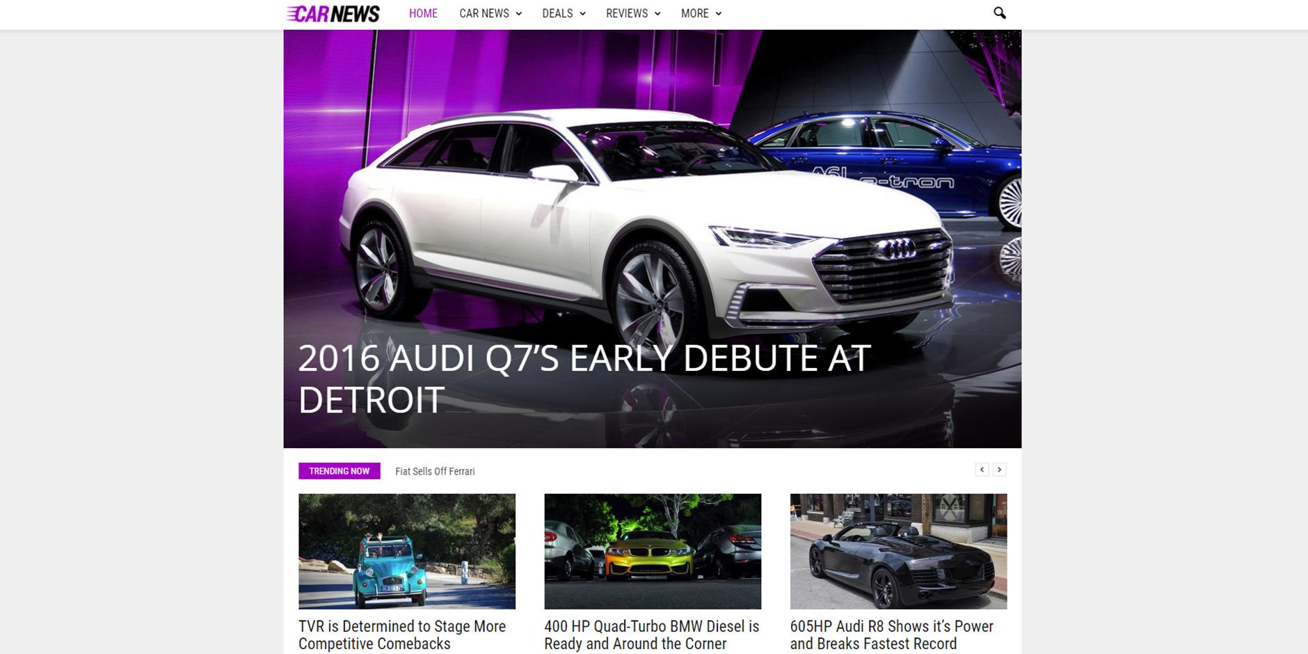 Newsmag_Car_News_Demo