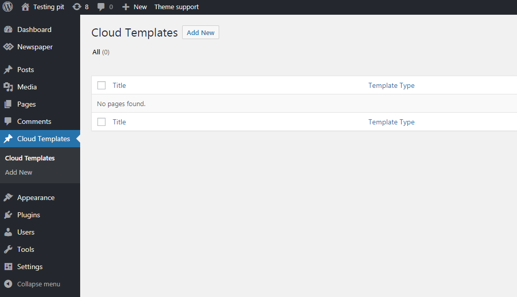 tagDiv Cloud Library: How to create a new template