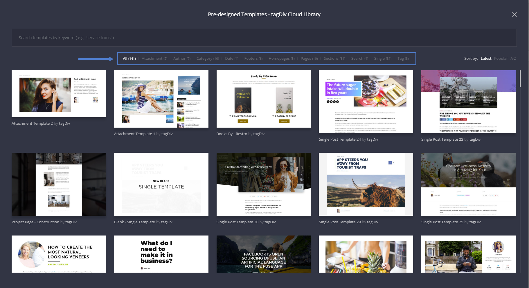 tagDiv Cloud Library - Templates