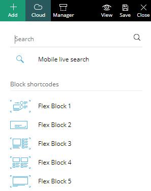 Add Flex Block element