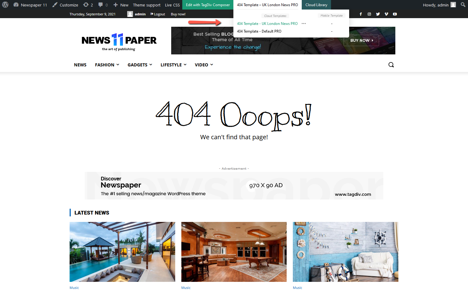 tagDiv Cloud Library - 404 Template
