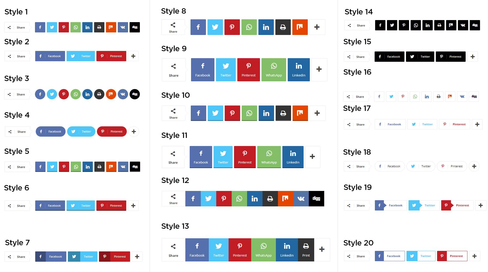 Social Sharing Styles